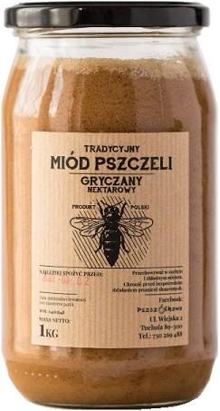 Pszczółkowo Tradycyjny Miód Pszczeli Gryczany Nektarowy