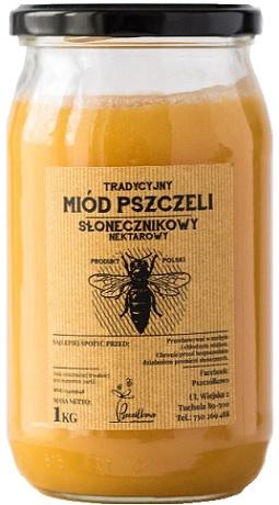 Pszczółkowo Tradycyjny Miód Pszczeli Słonecznikowy Nektarowy