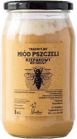 Pszczółkowo Tradycyjny Miód Pszczeli Rzepakowy Nektarowy