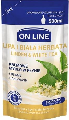 On Line Kremowe mydło w płynie lipa i biała herbata, zapas