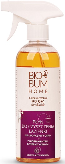 Biobum Home płyn do czyszczenia Łazienki na uporczywy osad z biofermentem Czerwona Pomarańcza