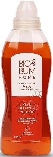 Biobum Home płyn do mycia Podłóg z biofermentem i eukaliptusem, Czerwona Pomarańcza