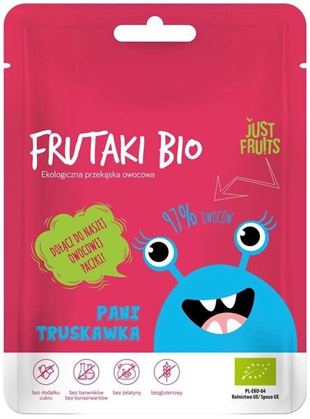 Frutaki Żelki Pani truskawka bez dodatku cukrów bezglutenowe BIO