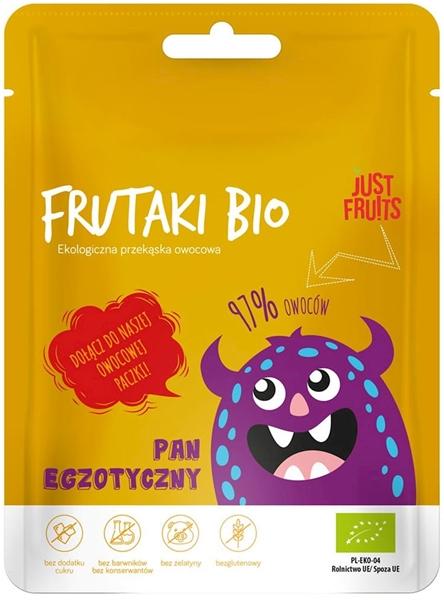 Frutaki Żelki Pan egzotyczny bez dodatku cukrów bezglutenowe BIO