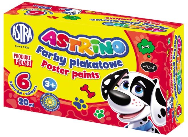 Astra Astrino Farby plakatowe 6 kolorów 20 ml