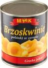MK Brzoskwinie połówki w lekkim