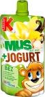 Kubuś Mus + Jogurt  jabłko,banan
