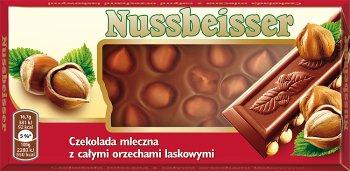 nussbeisser chocolat au lait avec noisettes entières