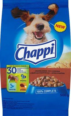 Chappi - sucha karma dla psów - worek 500g z wołowiną i drobiem