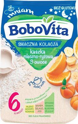 BoboVita kaszka mleczno-ryżowa 3 owoce Smaczna Kolacja