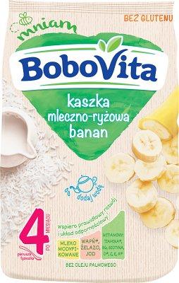 milky-rice porridge with modified milk with bananas