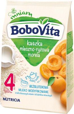 BoboVita kaszka mleczno-ryżowa na mleku modyfikowanym z morelami
