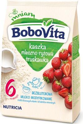 BoboVita kaszka mleczno-ryżowa na mleku modyfikowanym  z truskawkami