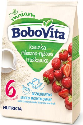 BoboVita kaszka mleczno-ryżowa truskawka