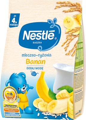 Nestle kaszka mleczno-ryżowa z bananami