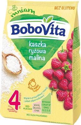 BoboVita kaszka ryżowa z malinami