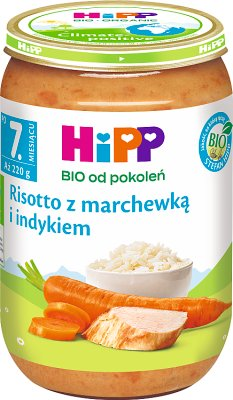 Risotto z marchewką i indykiem BIO