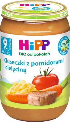nouilles avec des tomates et de veau bio