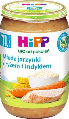 HiPP Młode jarzynki z ryżem i indykiem BIO