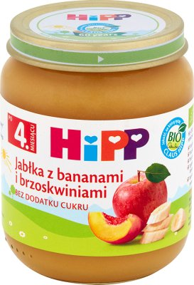 Jabłka z bananami i brzoskwiniami BIO