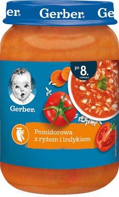 Gerber zupka  pomidorowa z indykiem i ryżem