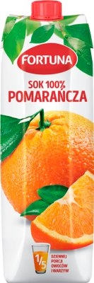 Fortuna sok 100% bez dodatku cukru pomarańczowy