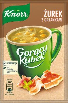 Gorący Kubek Knorr zupa w proszku żurek z grzankami
