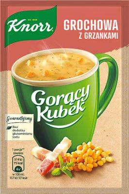 Knorr Gorący kubek zupa w proszku grochowa z grzankami