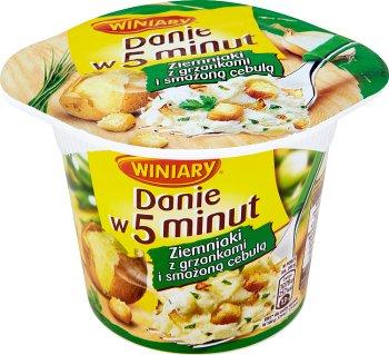 Winiary Danie w 5 minut Ziemniaki Puree z grzankami i smażoną cebulą