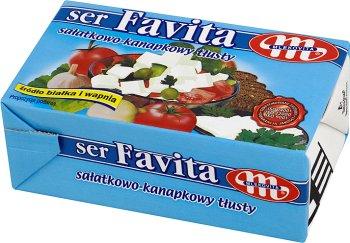 Mlekovita Ser Favita typu feta z mleka krowiego, niebieska - 18% tłuszczu Tłusty