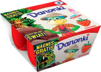 Danone Danonki serki dla dzieci 4x50g truskawka