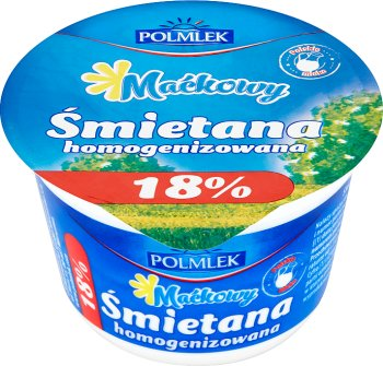 18 % de matière grasse de la crème
