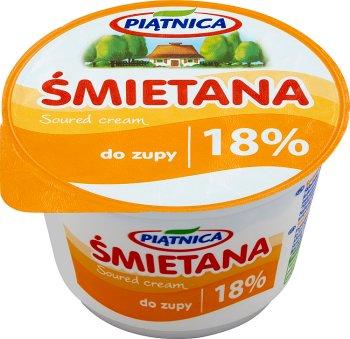 Crema bajo en grasa 18 %