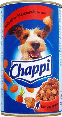 Chappi - mięsne kawałki w sosie, dla psów - puszka  z wołowiną i marchewką w sosie