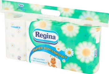 Regina papier toaletowy rumiankowy 3-warstwowy biały 8 rolek