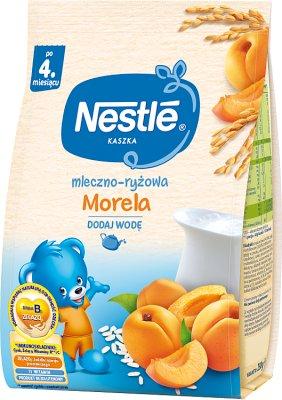 porridge laiteux riz aux abricots