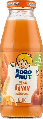 100% яблочный сок - банан - Морковь