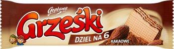 Grześki wafel bez czekolady Dziel na 6 - kakaowy