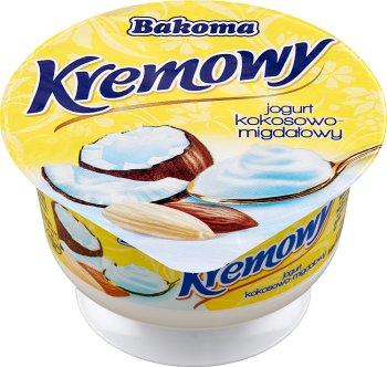 cremoso de yogur de coco almendra