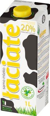 2 % de matières grasses du lait UHT