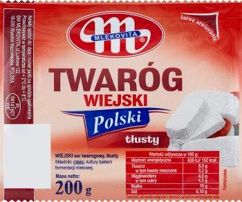 Mlekovita Twaróg Wiejski Polski tłusty