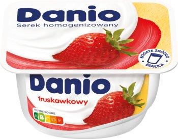 Danio Danone serek homogenizowany truskawkowy