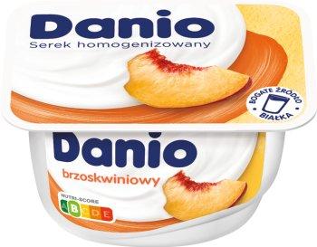 Danio Danone serek homogenizowany brzoskwiniowy