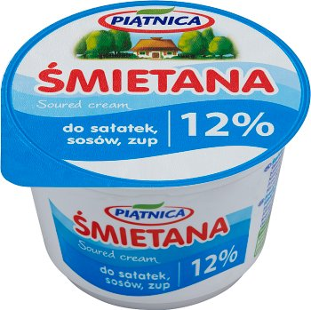 12 % de matière grasse de la crème