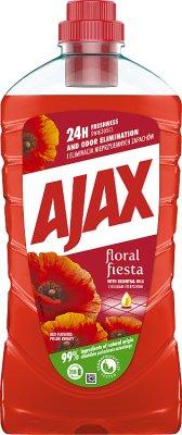 Ajax uniwersalny płyn do czyszczenia wszystkich powierzchni 1 litr Floral Fiesta - dzikie kwiaty