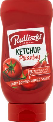 Pudliszki ketchup bez konserwantów  pikantny