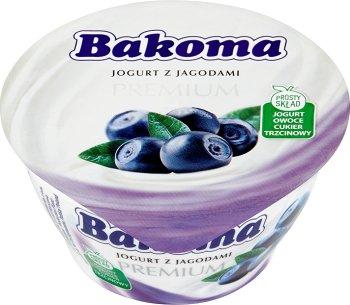 Bakoma Premium jogurt jagodowy