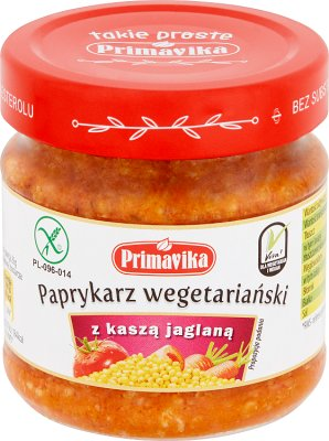 Primavika Paprykarz wegetariański z kaszą jaglaną