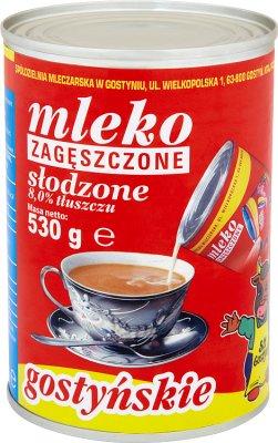 SM Gostyń mleko zagęszczone słodzone w puszce 8% tłuszczu