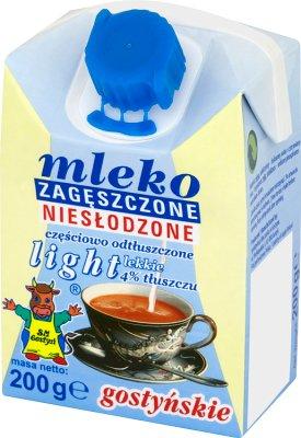 SM Gostyń mleko zagęszczone niesłodzone  light 4% tłuszczu